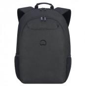 "Delsey Esplanade Laptop Backpack 2-CPT 17.3"" Deep Black"