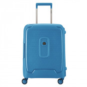 Delsey Moncey Cabin Trolley Slim 4 Wheel 55 Light Blue