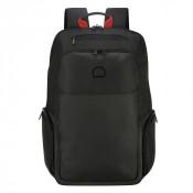 "Delsey Parvis Plus Backpack 2-CPT 17.3"" Black"