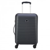 Delsey Segur Cabin Trolley Case 4 Wheel Slim 55 Black