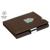 Exentri Wallet met RFID Bescherming Brown