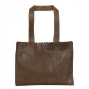 Myomy My Paper Bag Handbag Zip Anaconda Taupe