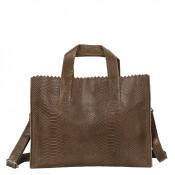 Myomy My Paper Bag Handbag Cross-Body Anaconda Taupe