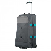 American Tourister Road Quest 2 Compartments Duffle Wheels L Grey/ Turquoise