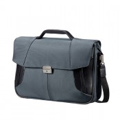 "Samsonite XBR Briefcase 2 Gussets 15.6"" Grey/Black"