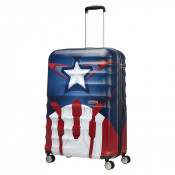 American Tourister Wavebreaker Marvel Spinner 77 Captain America Close-Up