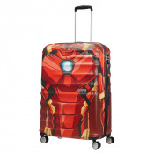 American Tourister Wavebreaker Marvel Spinner 77 Iron Man Close-Up