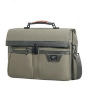 "Samsonite Zenith Briefcase 2 Gussets 15.6"" Taupe"