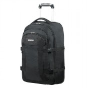 "American Tourister Road Quest Laptop Backpack Wheels 15.6"" Solid Black"
