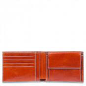 Piquadro Blue Square Men's Wallet 4 Creditcards Orange