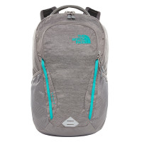 The North Face Womens Vault Backpack Zinc Grey Light Heather/Kokomo Green