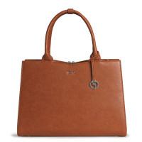 "Socha Businessbag Straight Line 14-15.6"" Cognac"