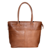 DSTRCT Fletcher Street Womens Business Laptoptas 15.6'' Cognac 016520