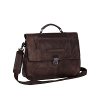 "Chesterfield George Business Bag Aktetas 14"" Brown"
