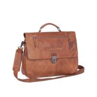 "Chesterfield George Business Bag Aktetas 14"" Cognac"