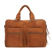DSTRCT Wall Street Business Working Bag Laptoptas 15.6'' Cognac 76620