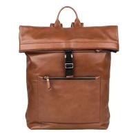 "Burkely Suburb Seth Backpack Rolltop 15.6"" Cognac"