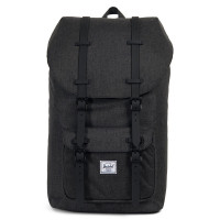 Herschel Little America Rugzak Black Crosshatch/Black Rubber