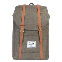 Herschel Retreat Rugzak Canteen Crosshatch/Tan Synthetic Leather