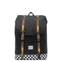 Herschel Retreat Youth Rugzak Black/Checker/Woodland Camo