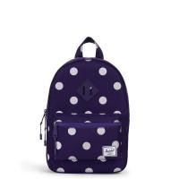 Herschel Heritage Kids Rugzak Purple Polka Dot