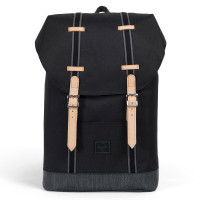 Herschel Retreat Mid-Volume Rugzak Offset Black/Black Denim
