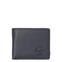 Herschel Hank Leather Portemonnee Black Pebbled Leather