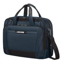 """Samsonite Pro-DLX 5 Laptop Bailhandle 15.6"""" Expandable Oxford Blue"""