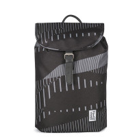 The Pack Society The Small Backpack Black Stripes Allover