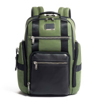 Tumi Alpha Bravo Sheppard Deluxe Brief Backpack Forest