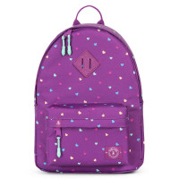 Parkland Bayside Kids Backpack Candy Hearts Purple