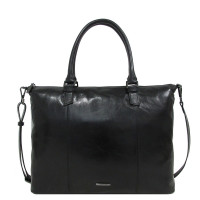 Claudio Ferrici Pelle Vecchia Business Tote Bag Black 22002