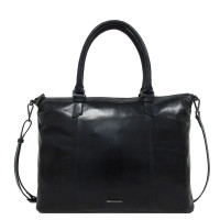 Claudio Ferrici Pelle Vecchia Business Tote Bag Navy 22002