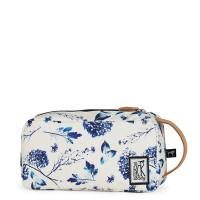 The Pack Society Multi Case Toilettas Off White Blue Flower Allover