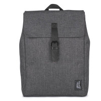 The Pack Society The Square Backpack Rugzak Dark Grey Duo Tone