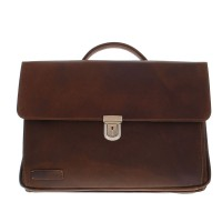 "Plevier Vintage Business/ Laptoptas 3-vaks 17"" Brown 36"