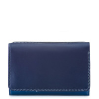 Mywalit Medium Tri-Fold Wallet Outer Zip Portemonnee Denim