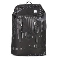 The Pack Society The Premium Rugzak Black Stripe Allover