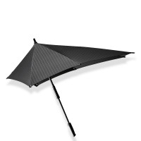 Senz XXL Stick Paraplu Pure Black Pin Stripes