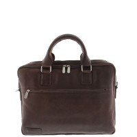 "Plevier Business/Laptoptas 2-Vaks 15.6"" Dark Brown 482"