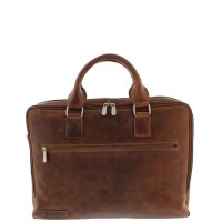 "Plevier Business/Laptoptas 2-Vaks 15.6"" Cognac 482"