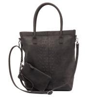 Zebra Trends Natural Bag Kartel Rits Croco Black 552203