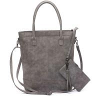 Zebra Trends Natural Bag Kartel Rits Fearless Grey 600077