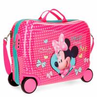 Disney Rolling Suitcase 4 Wheels Minnie Happy Helpers