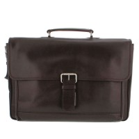 "Plevier Business/ Laptoptas Traditioneel 2-Vaks 17.3"" Brown 724"