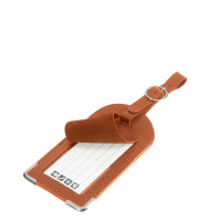 Samsonite Travel Accessoires Leather Luggage Tag Cognac