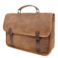 "Barbarossa Ruvido Brief Case Laptop Schoudertas 15.4"" Coffee"