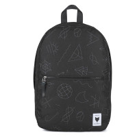 The Pack Society Commuter Rugzak Collaboration Black With Grey Embroidery