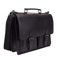 Leonhard Heyden Dakota Briefcase 2 Compartments Black 2826