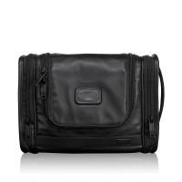 Tumi Alpha 2 Leather Travel Hanging Travel Kit Black